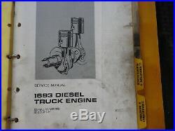 1971 Genuine Caterpillar 1693 Diesel Truck Engine Service Repair Manual Good 1