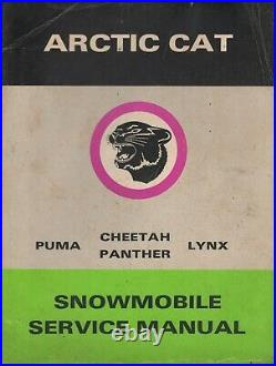 1973 Arctic Cat Snowmobile Puma, Cheetah, Lynx, Panther Service Manual (264)