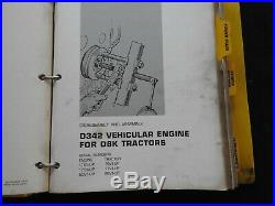 1975 Genuine Caterpillar D8k Tractor Service Repair Manual Serial # 66v 76v 77v