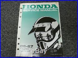1986 1987 Honda TR200 Fat Cat Motorcycle Shop Service Repair Manual Book
