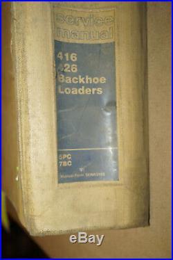 1987 CAT Caterpillar 416 & 426 Backhoe Loaders Service Manual P/N SENR3160