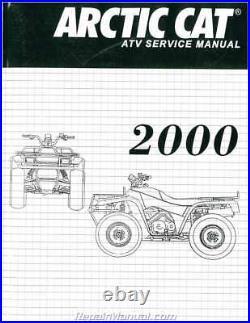 2000 Arctic Cat 250 300 400 500 ATV Service Manual 2256-223