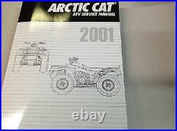 2001 Arctic Cat ATV 250 300 400 500 CC Automatic Service Repair Shop Manual NEW