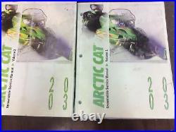2003 Arctic Cat Snowmobile Service Repair Shop Manual Vol 1 & Vol 2 D2