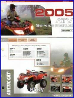 2005 Arctic Cat 250 300 400 500 650 ATV Service Manual Volume 1 of 2 2257-187