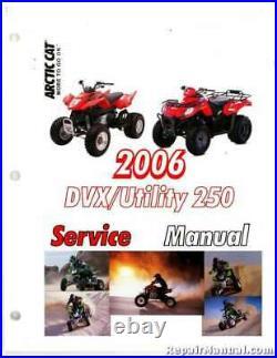 2006-2007 Arctic Cat 250 DVX And Utility ATVS Service Manual 2257-883