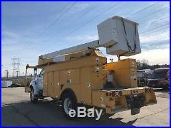 2007 Ford F750 Versalift 55' 2 Man Bucket Boom Truck Service Utility Cat Diesel