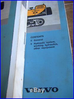 3 Volume VOLVO EC360, EC460 EXCAVATOR Crawler Service Repair Manuals Lot #533