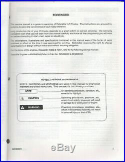 94 Cat GC15, 18, 20, 20HP, 25, 25HP & 30 Mast Service Manual (SENB8601) D1274