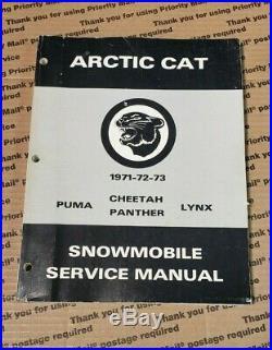 ARCTIC CAT Snowmobile 1971 1972 1973 Service Manual, 0153-024