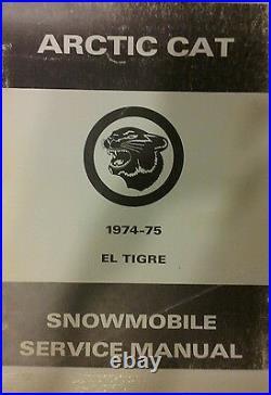 Arctic Cat El Tigre Snowmobile Service & Parts Manual 340 400 440 Sled cc 1974