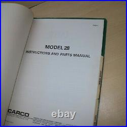 CARCO 28 CAT D3 931 Crawler Tractor Winch Service Owner Operator Parts manual