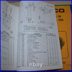 CARCO 50B PS CAT D4H D5H Tractor Winch Service Owner Operator Parts manual Book