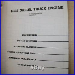 CAT CATERPILLAR 1693 Diesel Truck Engine Repair Shop Service Manual overhaul 65B