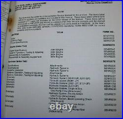 CAT CATERPILLAR 311B 312B Crawler Excavator Repair Shop Service Operator Manual