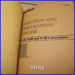 CAT CATERPILLAR 311B 312B L Crawler Excavator Repair Shop Service Manual Book