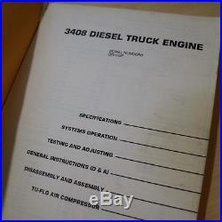 CAT CATERPILLAR 3408 Truck Diesel Engine Repair Shop Service Manual overhaul OEM