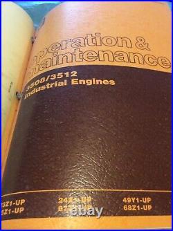 CAT CATERPILLAR 3508 3512 ENGINE SERVICE SHOP REPAIR MANUAL BOOK 49Y 95Y Guide