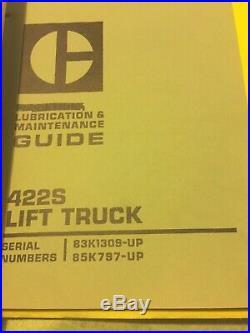 CAT CATERPILLAR 422S LIFT TRUCK FORKLIFT TRUCK SERVICE SHOP REPAIR MANUAL Book