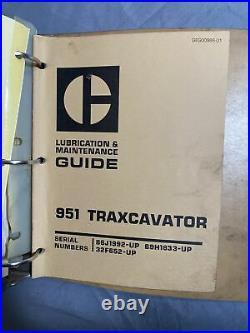 CAT CATERPILLAR 951B And 951C TRAXCAVATOR TRACK LOADER SERVICE REPAIR MANUAL