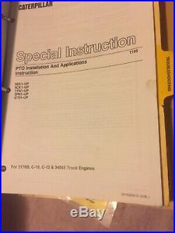 CAT CATERPILLAR C-10 C-12 DIESEL TRUCK ENGINE SERVICE MANUAL Book S/N 1YN 2PN