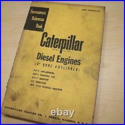 CAT CATERPILLAR D2 Crawler Tractor ENGINE Repair Shop Service Manual 212 d311
