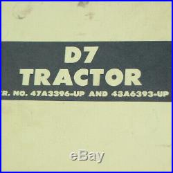 CAT CATERPILLAR D7 Tractor Repair Shop Service Manual crawler overhaul book 48A