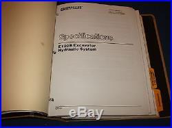 CAT CATERPILLAR E120B EXCAVATOR SERVICE SHOP REPAIR MANUAL BOOK S/N 7NF1-UP