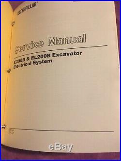 CAT CATERPILLAR E200B EL200B EXCAVATOR SERVICE SHOP REPAIR MANUAL 6KF 7DF Book