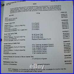 CAT CATERPILLAR IT14F Wheel Loader ToolCarrier Repair Shop Service Manual Owner