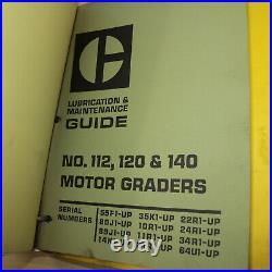 CAT Caterpillar 112 Motor Grader Service Manual repair shop overhaul maintenance