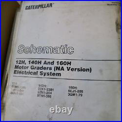 CAT Caterpillar 140H 160H Motor Grader Repair Shop Service Manual owner book OEM
