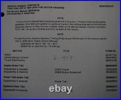 CAT Caterpillar 143H 163H Motor Grader Repair Shop Service Manual workshop guide