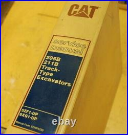 CAT Caterpillar 205B 211B Excavator Service Manual Repair wheel maintenance Book