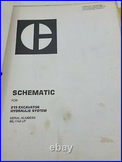 CAT Caterpillar 215 Hydraulic Excavator Shop Service Repair Manual 96L787-UP