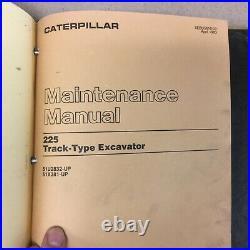CAT Caterpillar 225 225B 229 SERVICE SHOP REPAIR MANUAL EXCAVATOR MAINT GUIDE