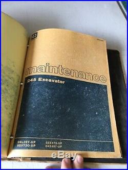 CAT Caterpillar 245 EXCAVATOR machine Service SHOP REPAIR MANUAL book