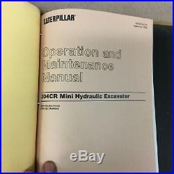 CAT Caterpillar 304CR SERVICE SHOP REPAIR MANUAL HYD. MINI-EXCAVATOR sn NAD BTN