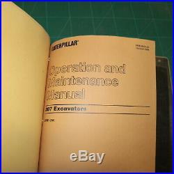CAT Caterpillar 307 Crawler Excavator Owner Shop Service Manual Operator Book 2p
