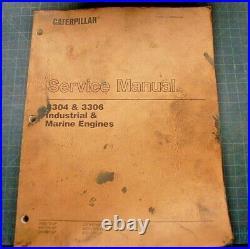CAT Caterpillar 3304 3306 Marine Engine Repair Shop Service Manual overhaul book