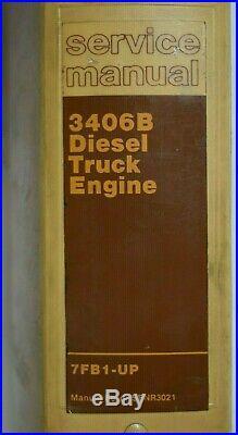 CAT Caterpillar 3406B Diesel Truck Engine Shop Repair Service Manual 7FB1-Up