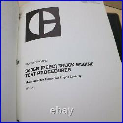 CAT Caterpillar 3406B Truck Engine Repair Shop Service Training Course Manual