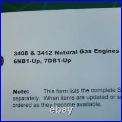 CAT Caterpillar 3408 3412 Engine Service Manual operator maintenance diesel book