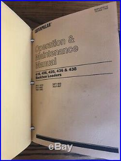 CAT Caterpillar 416C 426C 436C Series 1+2 Backhoe Loader Service Manual