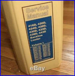 CAT Caterpillar 416D 420D 424D 428D 430D 432D 438D 442D Backhoe Service Manual 1