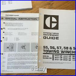 CAT Caterpillar 55 56 57 58 59 TOWING WINCH SERVICE MANUAL OPERATION MAINT GUIDE