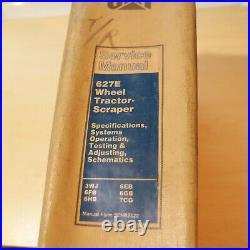 CAT Caterpillar 627E Scraper Repair Shop Service Manual pan owner operator book