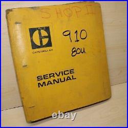 CAT Caterpillar 910 Wheel Loader Repair Shop Service Manual overhaul maintenance