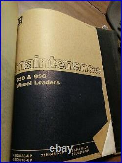 CAT Caterpillar 920 930 Wheel Loader Repair Shop Service Manual owner guide book
