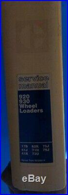 CAT Caterpillar 920, 930 Wheel Loader SERVICE MANUAL 41J 41K 79J 75J 73U 62K 71H
